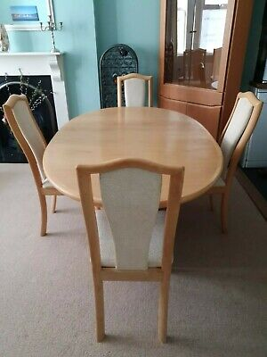 Skovby  Extending Dining Table  & 4  Matching Chairs • 199£