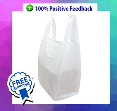 Plastic Carrier Bags Strong Small, Medium & Large Vest Shopping Supermarkets • 5.69£