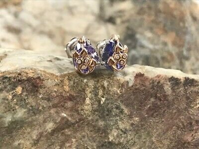 £425 • Buy Welsh Clogau 18ct White & Rose Gold Tree Of Life Tanzanite Earrings £325 OFF!