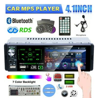 Single 1 Din 4.1 Inch Car Radio With RDS Bluetooth AM FM SWC Touch MP5 Player • 32.99£