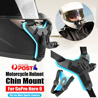 AU15.92 • Buy Motorcycle Helmet Sports Camera Photography Chin Mount For GOPRO Hero 9 8 7 5