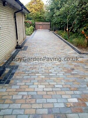 Raj Green Natural Indian Sandstone Cobble Setts 200x100 *Nationwide* • 399.99£