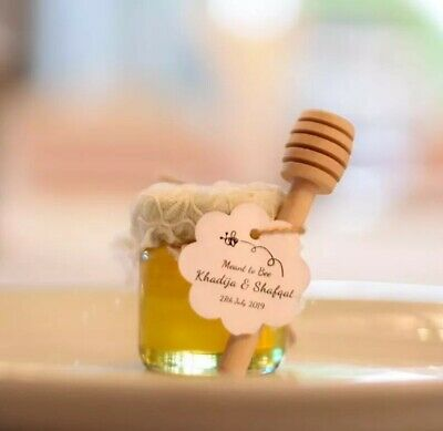 Personalised 41ml Honey Favours Wedding Baby Shower Party Christening • 1.50£