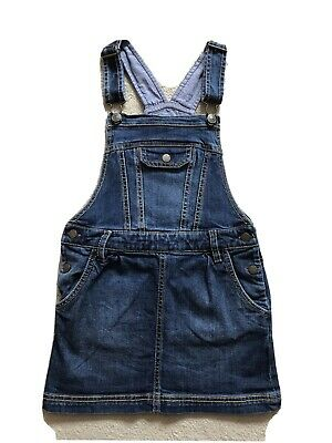 Girls Fat Face Dungaree Dress Aged 6-7 Years • 1.20£