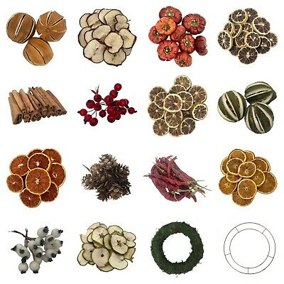 Christmas Wreath Decorations Garland Dried Fruit Artificial Berries Home Decor  • 9.99£