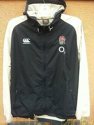 Waterproof ENGLAND RUGBY Hooded JACKET By CANTERBURY - Size L • 10.50£