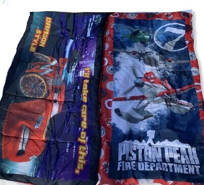 ( 2)Disney Planes Fire & Rescue And Cars Camping Sleeping Slumber Bag • 24.62£
