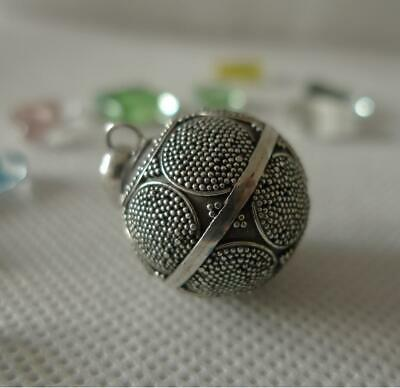 Harmony Ball/Mexican Bola Sterling Silver Pendant 20mm SilverandSoul Jewellery • 35£