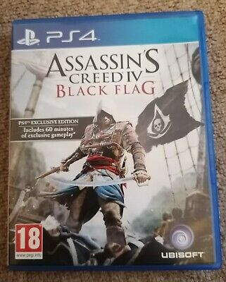 Assassins Creed IV: Black Flag (PS4, 2013)- Exclusive Edition • 14£