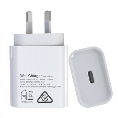 AU25.99 • Buy 18/20 W Type C Quick Charger Plug SAA Certificated AU Standard For IPhone IPad