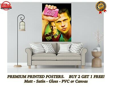 £3.15 • Buy Fight Club Classic Movie Large Poster Art Print Gift A0 A1 A2 A3 A4 Maxi