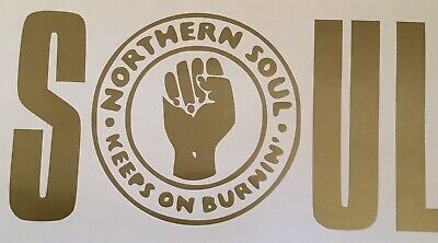Northern Soul . SOUL,car Decal/ Sticker For Windows,bumpers ,panels Or Laptops • 2.49£