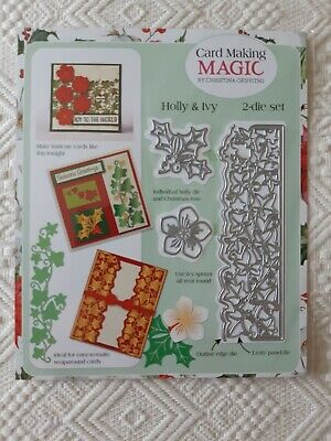 Card Making Magic Christmas Holly And Ivy Metal Die Set • 3.88£