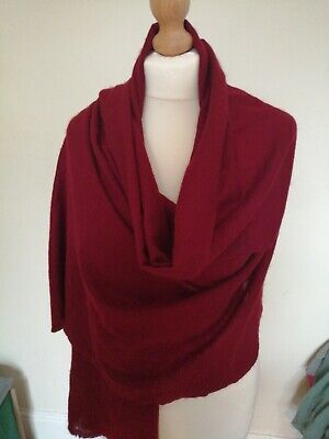 100%Pure Cashmere Pasmina Shawl Red Maroon #a35 • 15£