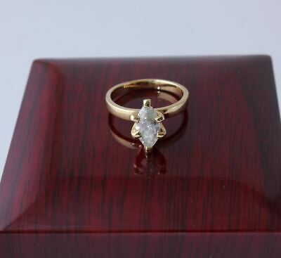 18ct Gold Engagement Ring. 1 Ct Carat Certified Diamond Marquise. Size J 1/2 • 1,500£