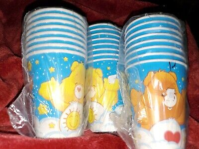 NEW CARE BEARS 8- PAPER CUPS 9 FL. OZ.    PARTY SUPPLIES X 3 Packages (24 Cups) • 8.43£