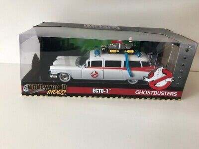 Hollywood Rides Ghostbusters 1:24 Ecto-1 Die Cast Metal Model #99731 • 24.99£