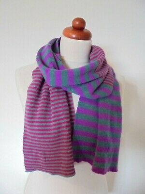 Seasalt - A Lovely Soft & Smooth Pure Wool Striped Scarf  • 7.50£