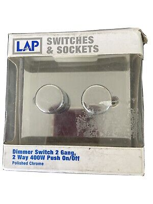 Lap Double Dimmer Switch - Chrome • 10£