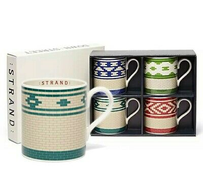 London Underground Tile Design Mugs Gift Set 4 Souvenir China Coffee Mug Tea Cup • 35£