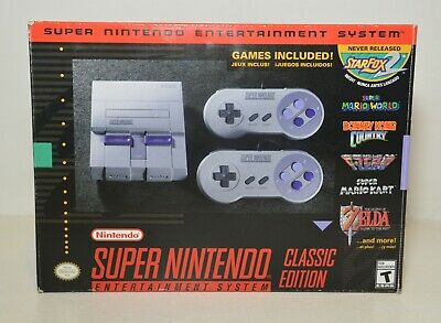 $ CDN178.40 • Buy Super Nintendo Entertainment System SNES Classic Edition Open Box