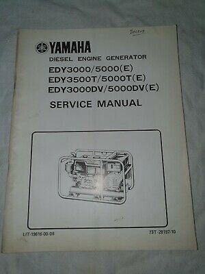 AU30 • Buy Yamaha Diesel Engine Generator Manual EDY3000 / 5000, EDY3500T / 5000T, EDY3000