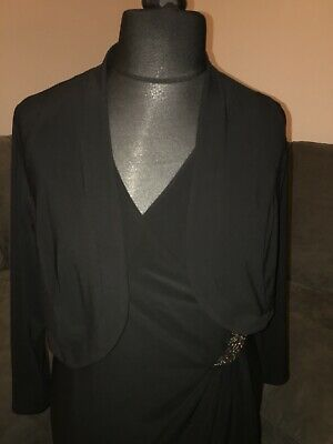 Joanna Hope Black Dress And Jacket Size 18 • 10£