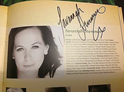 Wicked The Musical SIGNED Programme. Savannah Stevenson. • 25£