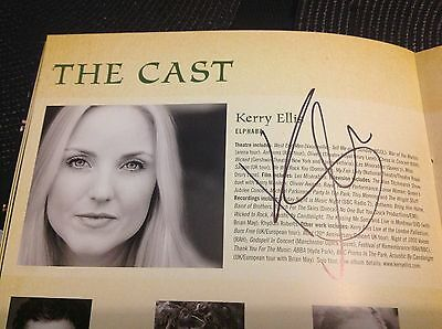 Wicked The Musical DOUBLE SIGNED Programme. Kerry Ellis. • 65£