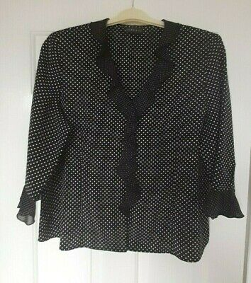 Vintage Blouse From Alex & Co  - Size 20 - Worn Only Once - Black/white • 3.50£