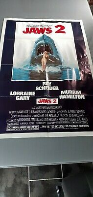 Jaws 2 One Sheet Original Movie Poster • 25£