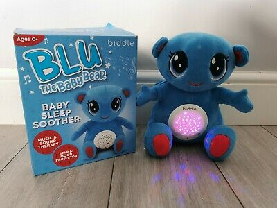 Baby Sleep Aid Toy Teddy Star Projector Night Light Musical White Noise Machine • 10£