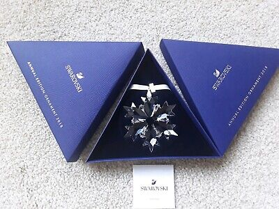 Swarovski Annual Christmas Star Ornament 2018 Snowflake Clear 5301575 Mint • 34.99£