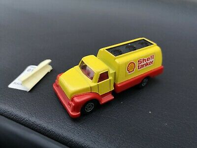 Corgi Cubs Shell Oil Petrol Tanker Yellow Red Lorry Truck Toy Diecast Model 1:43 • 5£