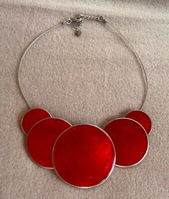 Statement Costume Jewellery Red Necklace • 4.74£
