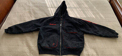 $ CDN73.34 • Buy Snap On Tools Men's Hooded Work Shop Jacket Limited Edition Black Quilted Sz. XL