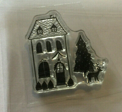Christmas Home, Tree  NEW Clear Stamp (Small) Card,tag ,craft Making. • 0.99£