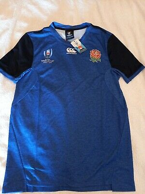 Canterbury England Rugby World Cup Japan 2019 Drill T-Shirt Size Large. • 10£