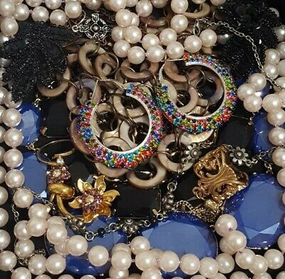 $ CDN31.09 • Buy Vintage Now Unsearched Untested Junk Drawer Jewelry Lot Estate All Wear L356