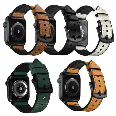 AU18.99 • Buy 40/44/38/42mm Genuine Leather Band Strap For Apple Watch Series 6 SE 5 4 3 2 1
