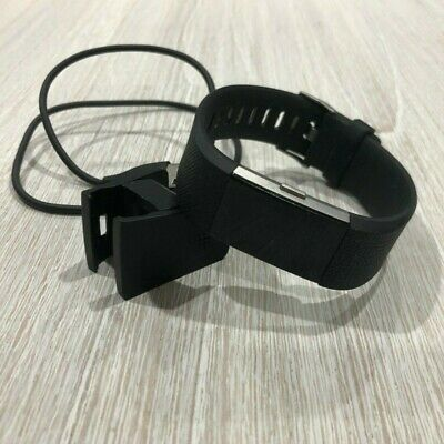 AU70 • Buy Fitbit Charge 2 Silver Heart Rate Fitness Activity Tracker Black Wristband Small