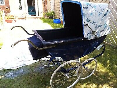 £350 • Buy London Baby Vintage Restored Coachbuilt Pram With FOOT EXTENTION