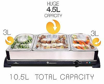 £59.95 • Buy HOMEFRONT 2 In 1 LARGE PRO-SERIES BUFFET SERVER  HOT TRAY FOOD WARMER