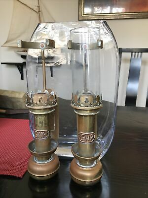 Pair Of GWR Great Western Railway Carriage Lamps/Wall Sconce/candle Holder Brass • 50£
