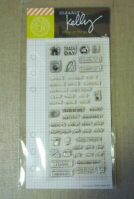 HERO ARTS CLEARLY KELLY HOME PLANNER 2.5 X6  CLEAR STAMP SET • 8.99£