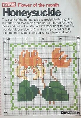CHARTS ONLY Easy Cross Stitch Cards - Two Of Flowers & Bears And One Butterfly • 1.49£