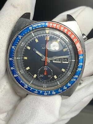 $ CDN631.34 • Buy Seiko 6139 6002 POGUE Blue Everything Athentic Working Never Restored A+++ Dial