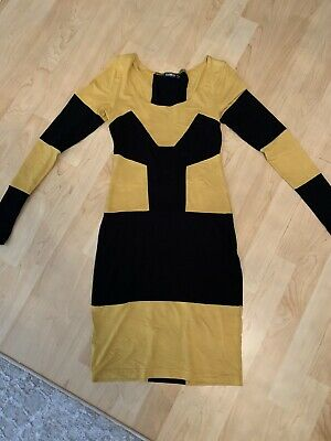 AU10 • Buy YLondon Colourblock Bodycon Dress Mustard/Black Dress Size S