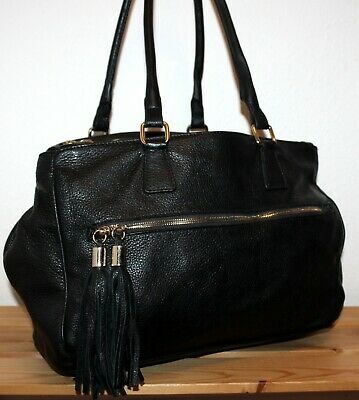 Hobbs Leather Black Triple Compartment Slouchy Bucket Shoulder Bag/Tote/Purse  • 4.20£