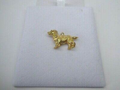 £195 • Buy 9ct Gold Dog Charm Spaniel Vintage Dangle Traditional Hallmarked With Gift Box